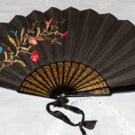 Fan - embroidered black