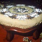 Foot stool - beaded